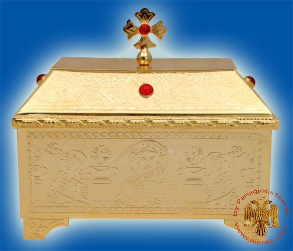 Reliquary or Relics Box - Tabernacle A Gold Plated
