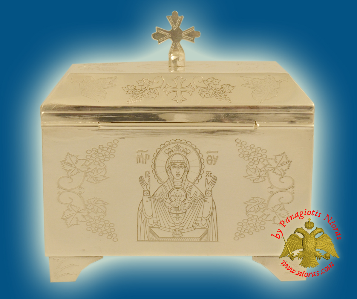 Reliquary or Relics Box - Saint George Tabernacle Silver Sterling