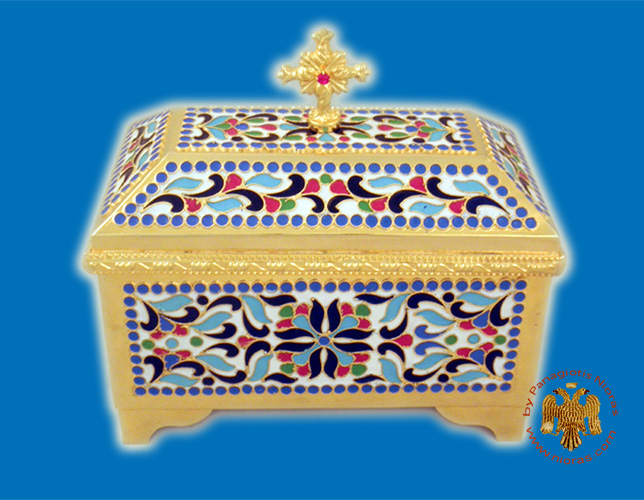 Reliquary or Relics Box - Tabernacle A with enamel