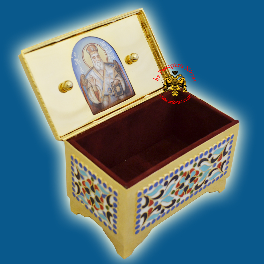 Reliquary Or Relics Box Tabernacle With Russian