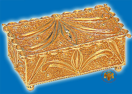 Tabernacle Filigree Box Gold Plated Design A