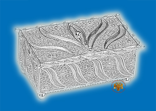 Tabernacle Filigree Box Silver Plated Design B