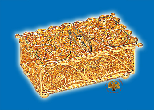 Tabernacle Filigree Box Gold Plated Design B