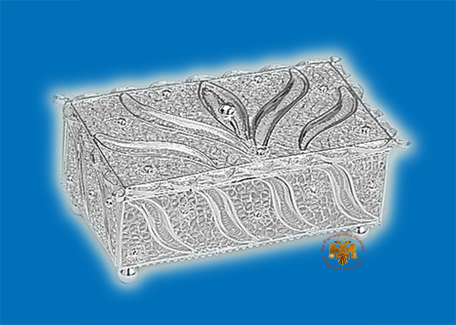 Tabernacle Filigree Box Silver Plated Design C