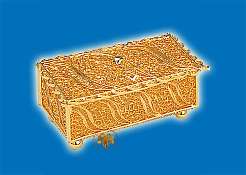 Tabernacle Filigree Box Gold Plated Design C