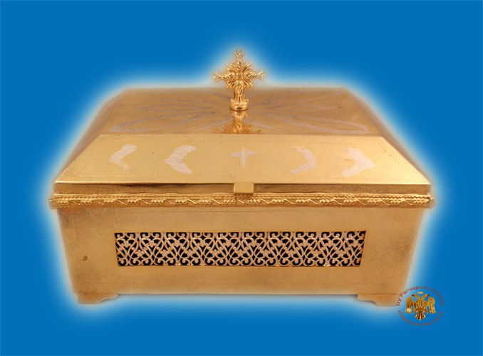 Reliquary or Relics Box - Tabernacle Gold Plated