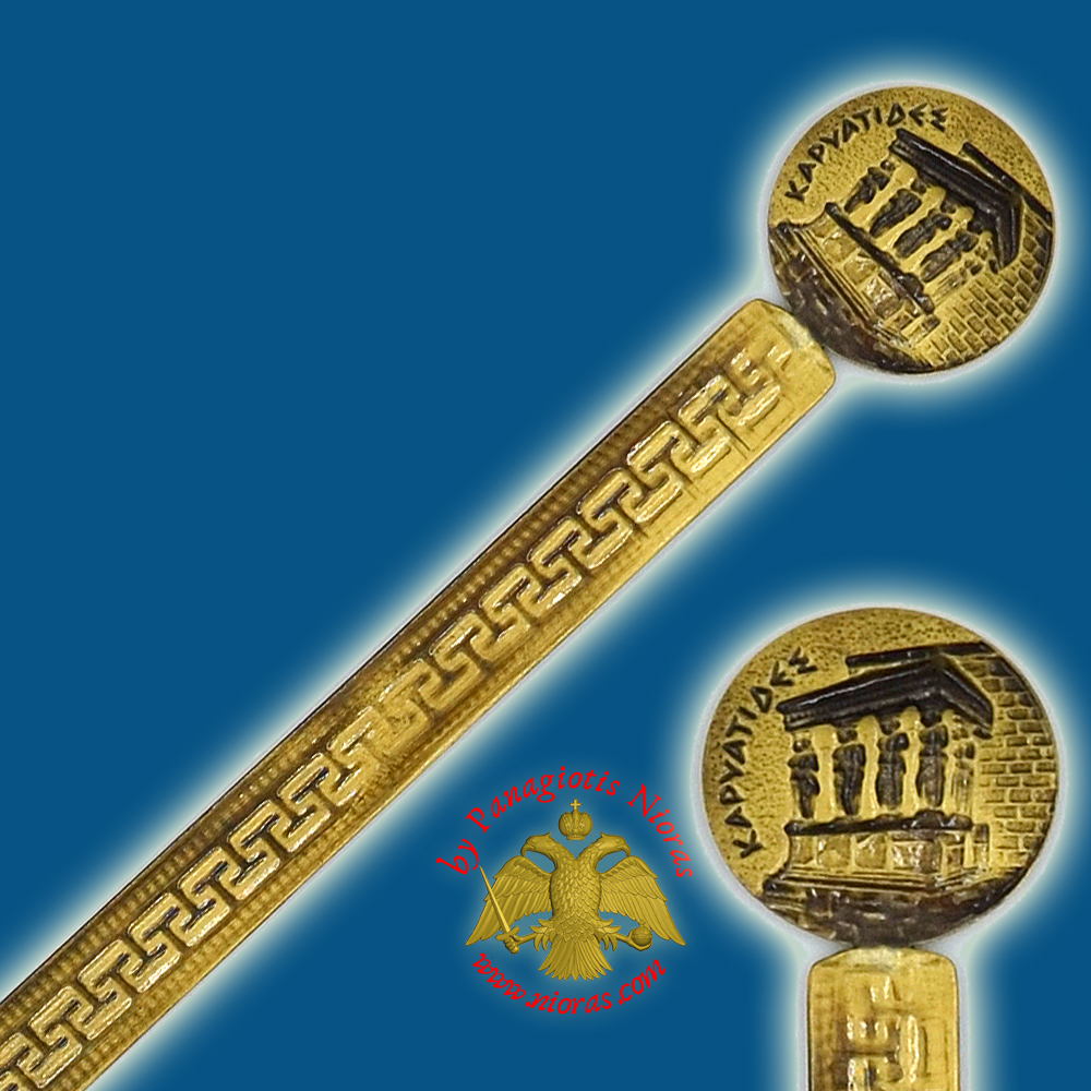 Touristic Metal BookMark Greek Art Design Single Greek Karyatis