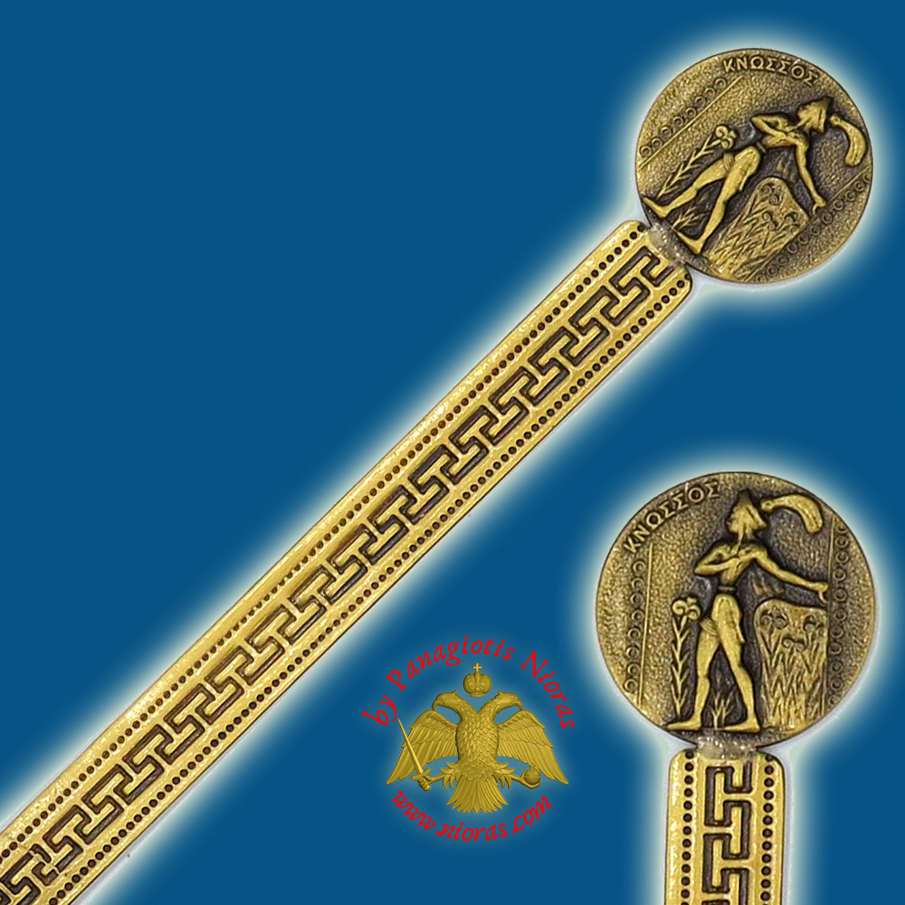 Touristic Metal BookMark Greek Art Design Single Greek Knossos