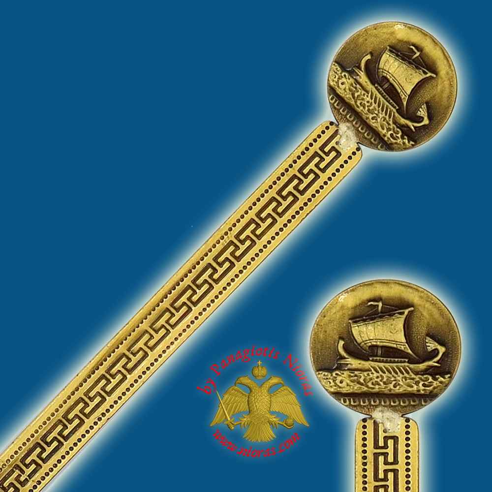 Touristic Metal BookMark Greek Art Design Single Greek Triremes