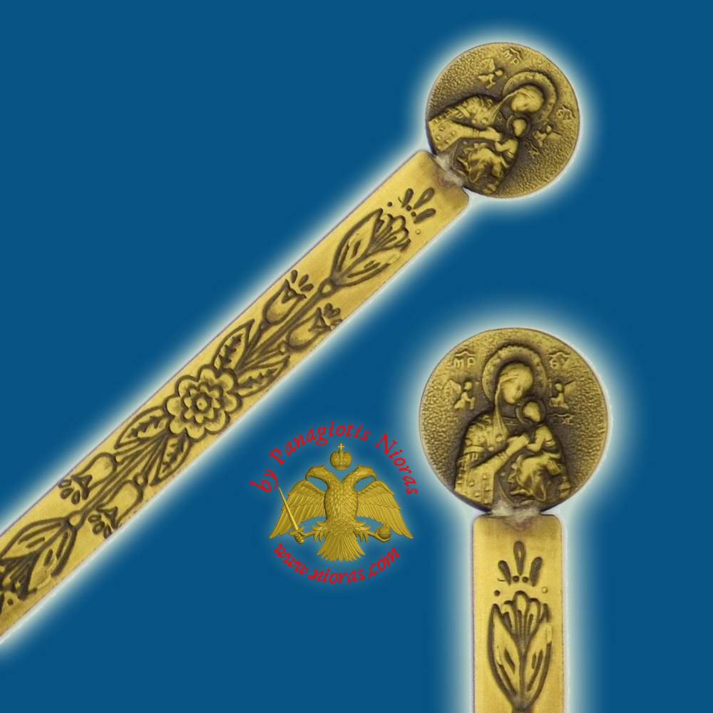 Orthodox Metal Bookmark Theotokos Holy Virgin Mary Single Icon