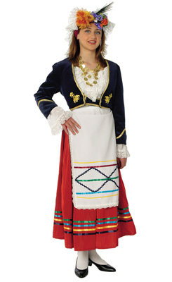 Corfu Female Traditional Dance Costume
