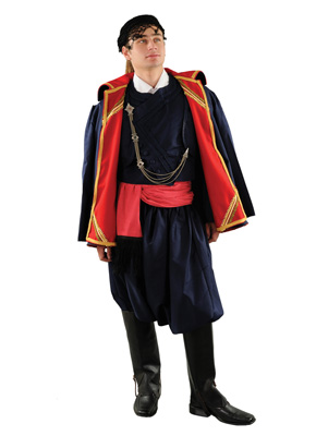 Cretan Male With Coat Traditional Dance Costume