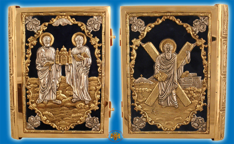 Holy Apostle Book Cover Sculptured With Velvet
