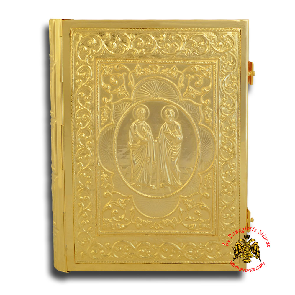 Holy Apostle Book Cover Sculptured Medium Size 24x30x5cm Gold Plated