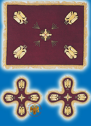 Velvet Cover Set with Byzantine Eagle