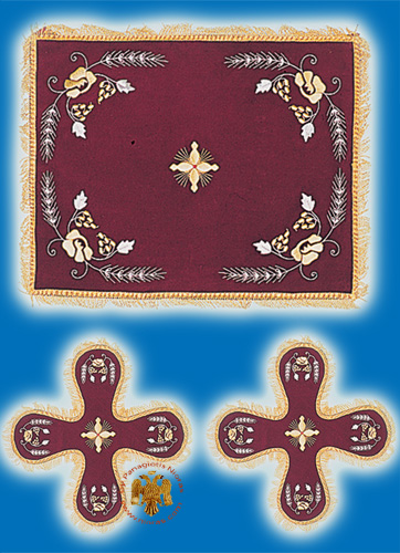 Velvet Cover Set with Flower