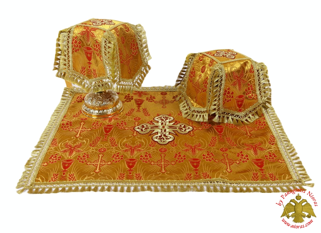 Covers Of The Holy Grail - Communion Cup Covers Embroidery Red Golden Yellow