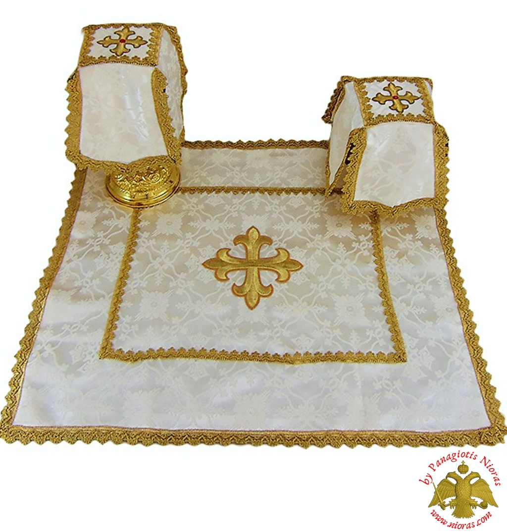 Covers Of The Holy Grail - Communion White Cup Covers Embroidery
