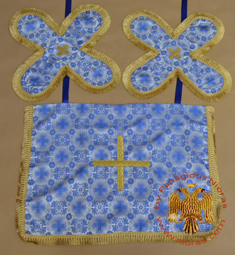 Communion Cup Blue Base Covers Embroidery