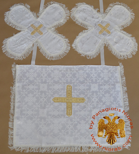 Communion White Cup Covers Embroidery