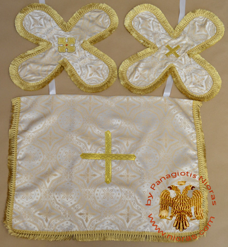 Communion Yellow Cup Covers Embroidery