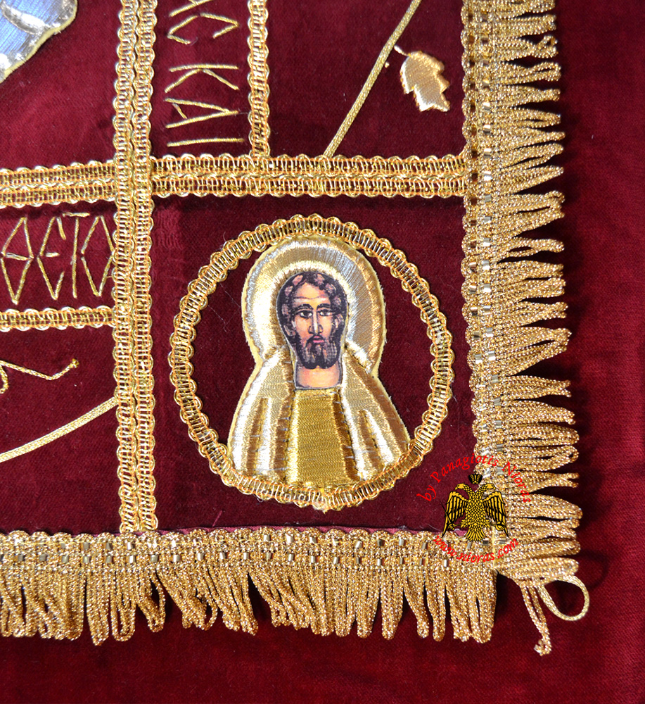Greek Wedding Altar: Epitaphios Cover With Golden Thread Full Embroidery 50x70