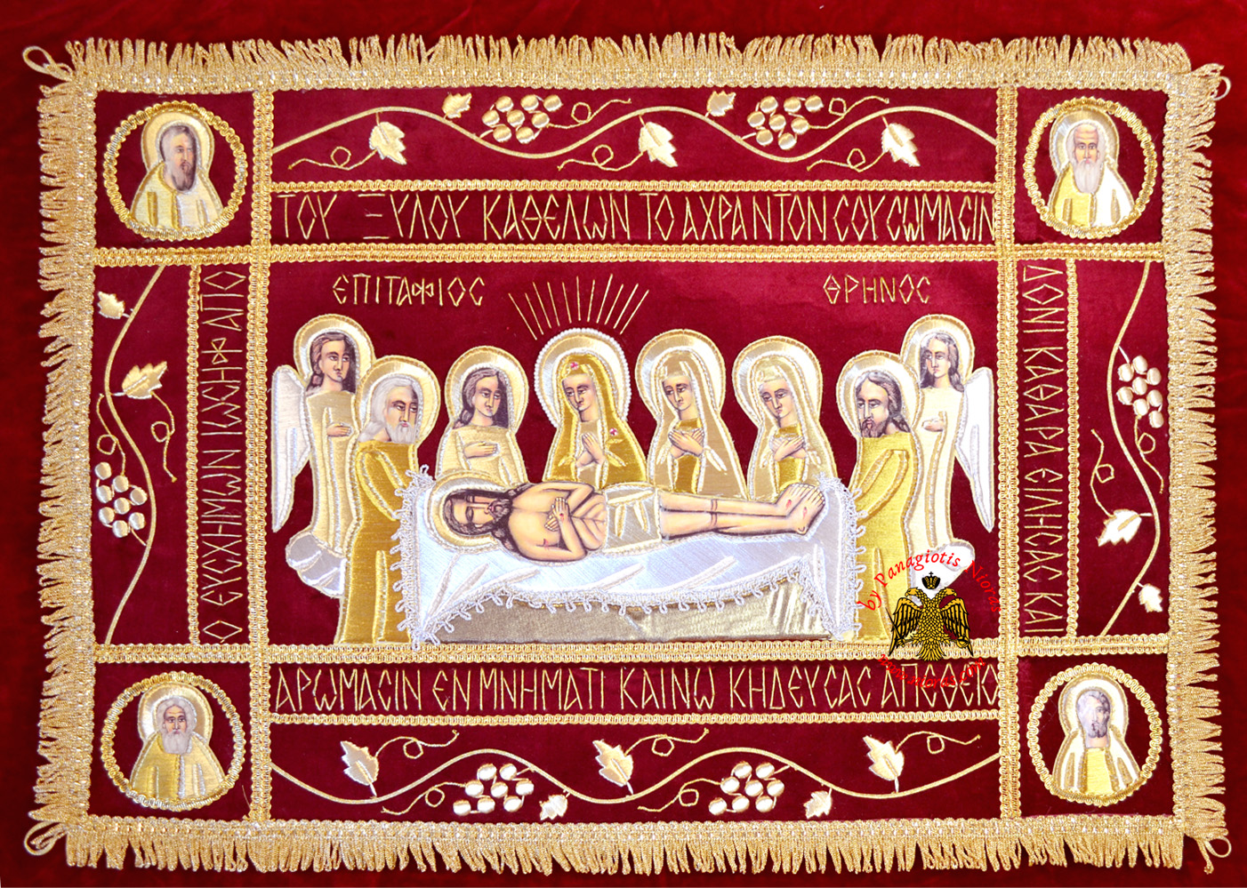 Epitaphios Cover With Golden Thread Full Embroidery 50x70