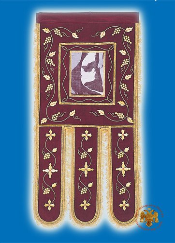 Ecclesiastical Orthodox Banner Simple Gold Thread in Velvet