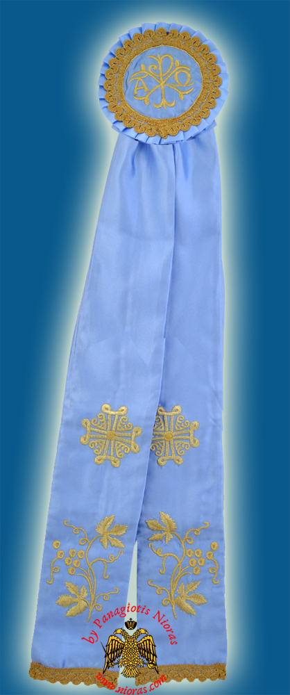 Ecclesiastical Ribbon Badge for Church Decoration 20x100cm Light Blue