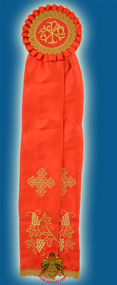 Ecclesiastical Ribbon Badge for Church Decoration 20x100cm Red