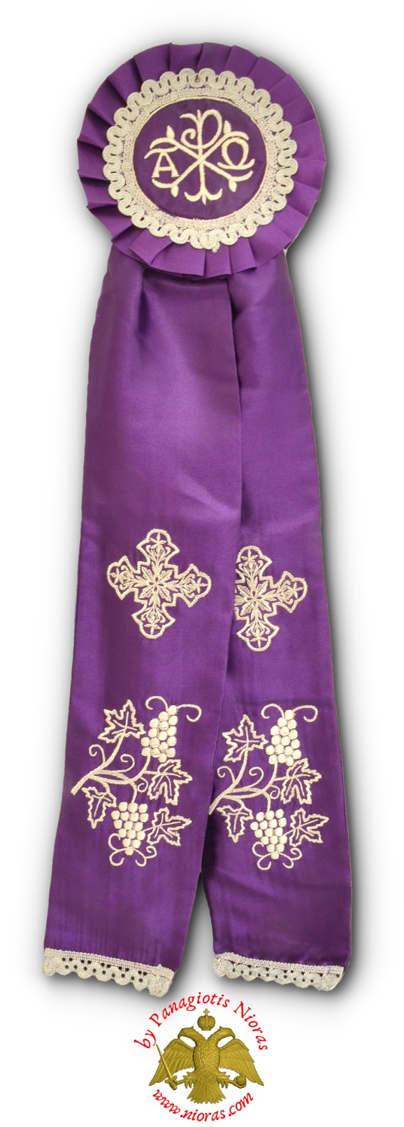 Ecclesiastical Ribbon Badge for Church Decoration 17x60cm Purple
