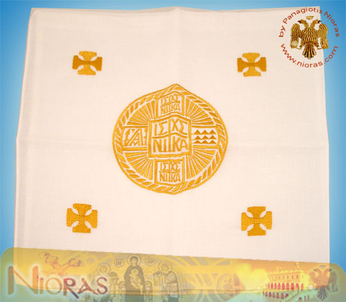 Special Prosphora Holy Communion Bread Cotton Case Gold Thread