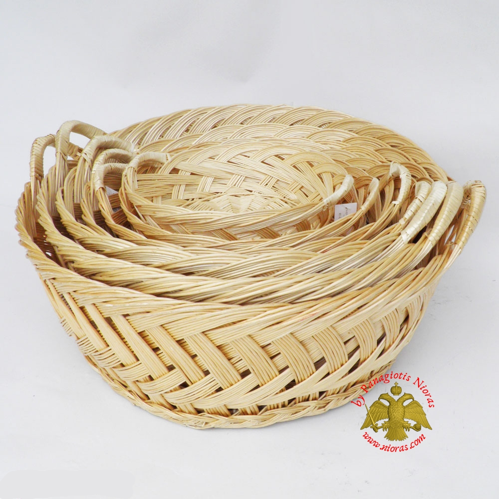Orthodox Artoklasia Wicker Basket 55cm