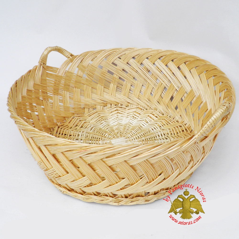 Orthodox Artoklasia Wicker Basket 60cm