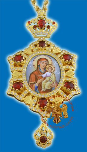 Egolpion Design 03 Gold Plated With Hand Made Enamel Icon