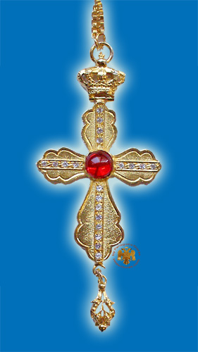Pectoral Cross Design No 20 with Stones