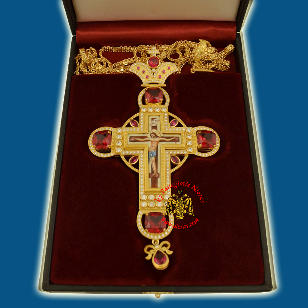 Pectroral Cross Enamel INBI Christ 296