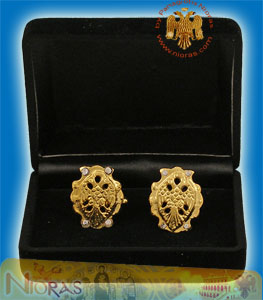 Cufflinks Gold Plated Byzantine Eagle Design A