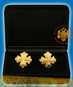 Cufflinks Gold Plated Cross Design