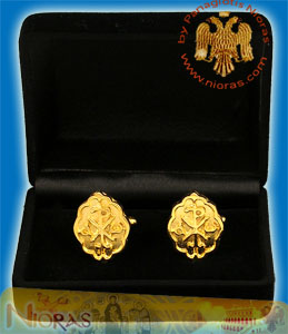 Cufflinks Gold Plated Christian Design ARXO