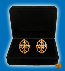 Cufflinks Gold Plated Christian Design ARXO B