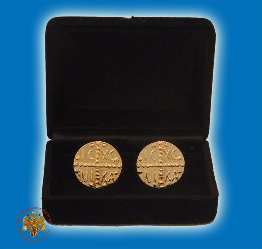 Cufflinks Gold Plated ICXC NIKA