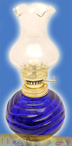 Glass Lamp for Parafinn Oil Sphere Base 200ml Blue