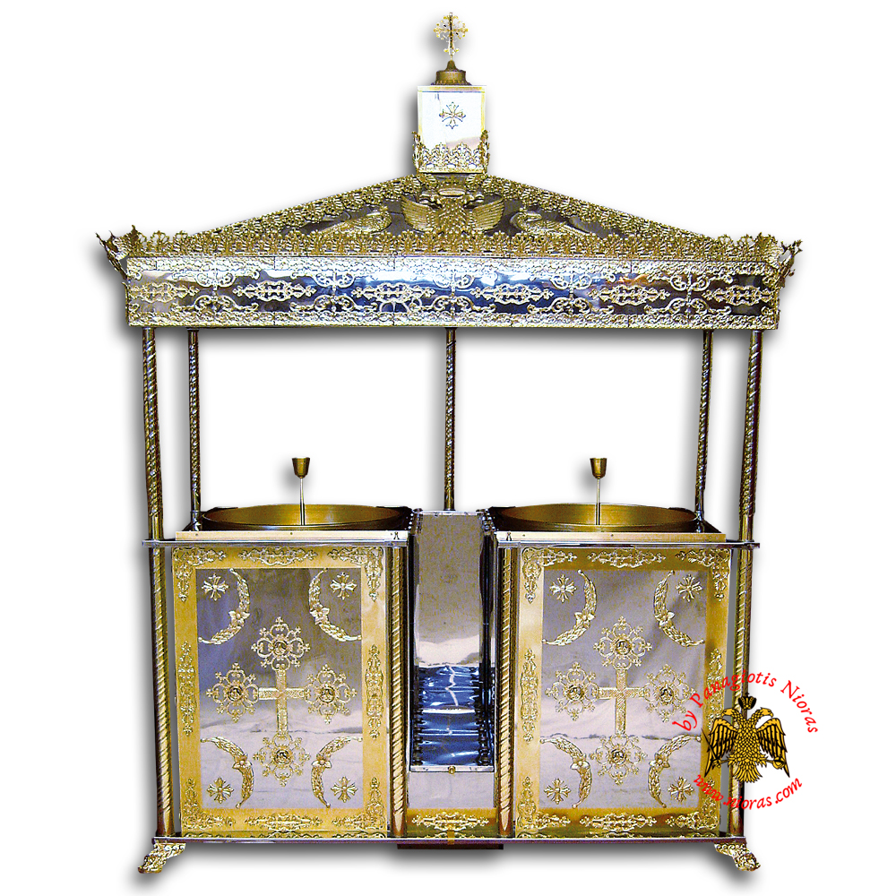 Orthodox Candle Case Aluminum With 1 Tray 76x104x245cm