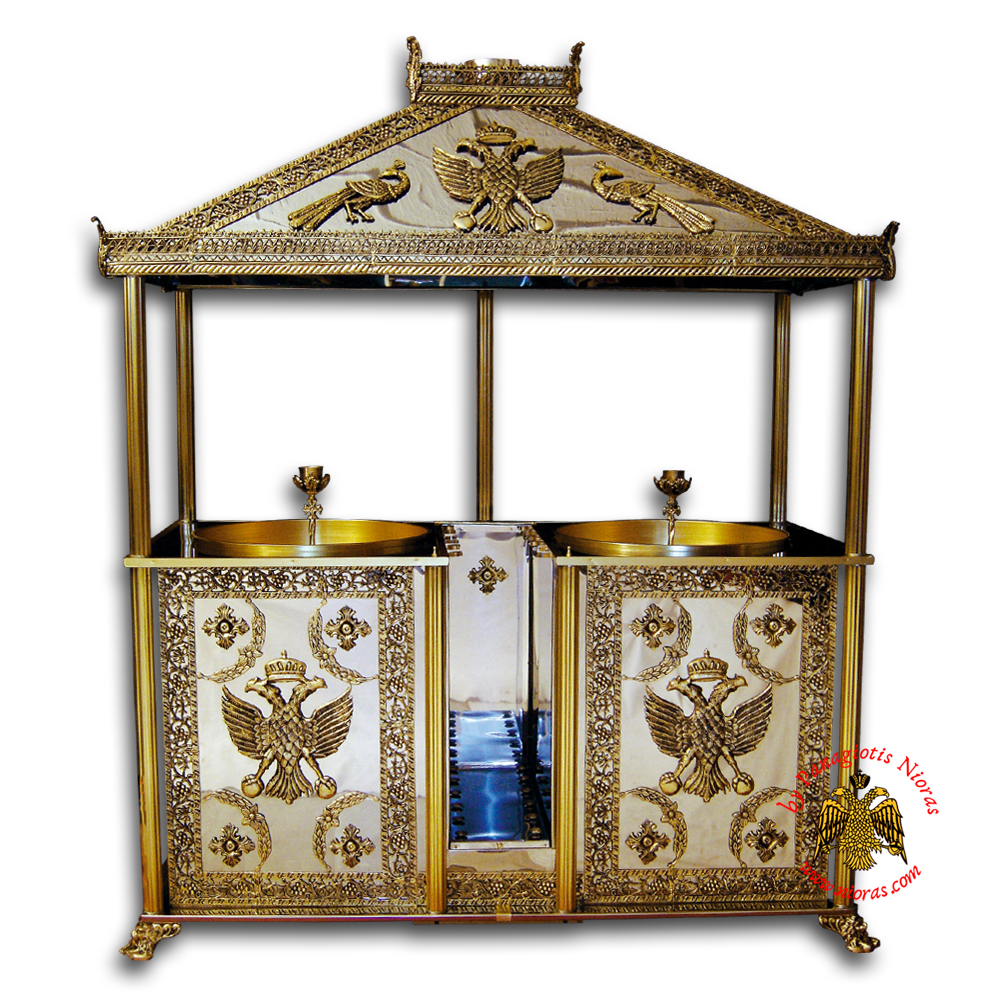 Orthodox Candle Case Aluminum With 2 Trays 76x165x248cm