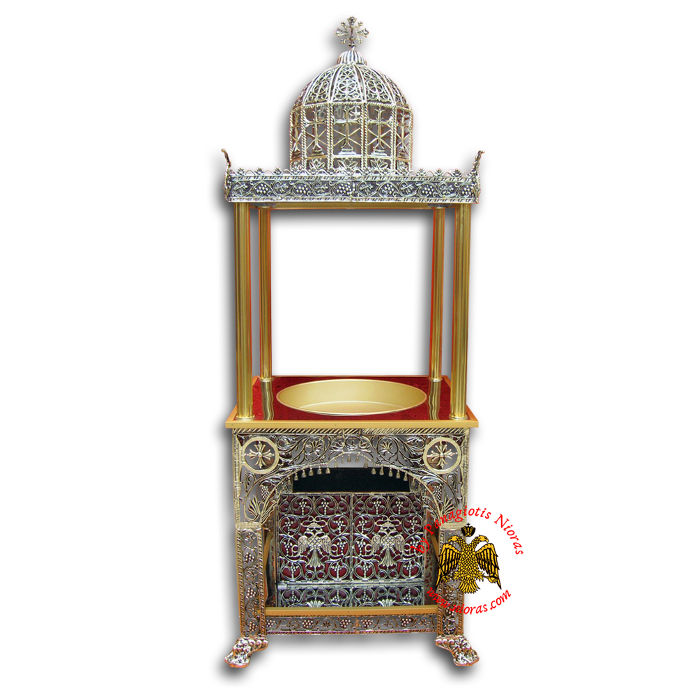 Orthodox Candle Case Aluminum With 1 Tray 90x80x220cm