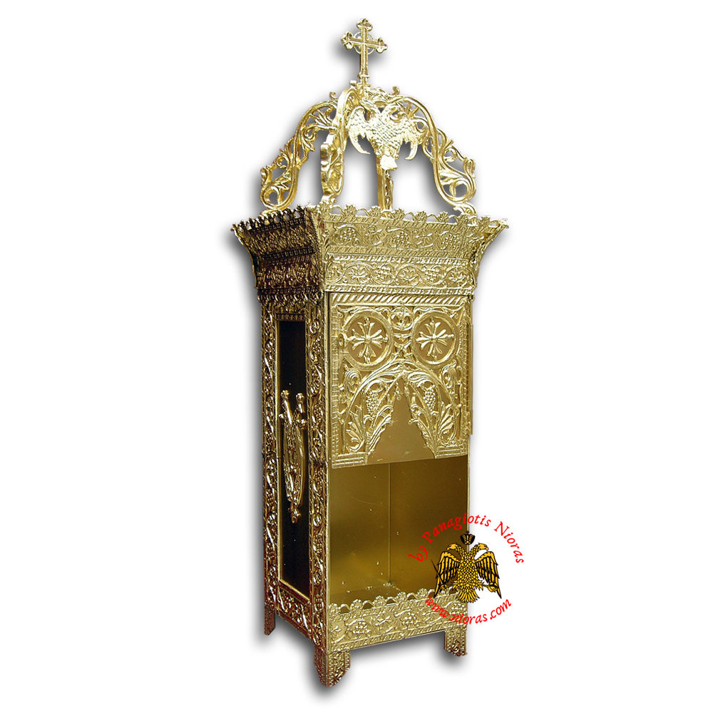 Orthodox Candle Case Aluminum for Incense Burner 50x50x143cm