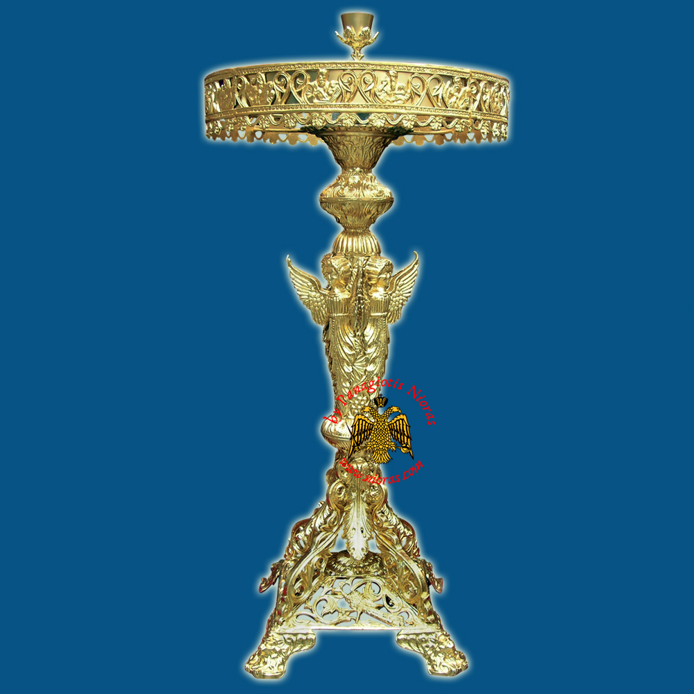 Orthodox Church Style Candelabrum Aluminium with Holy Angels D:60cm