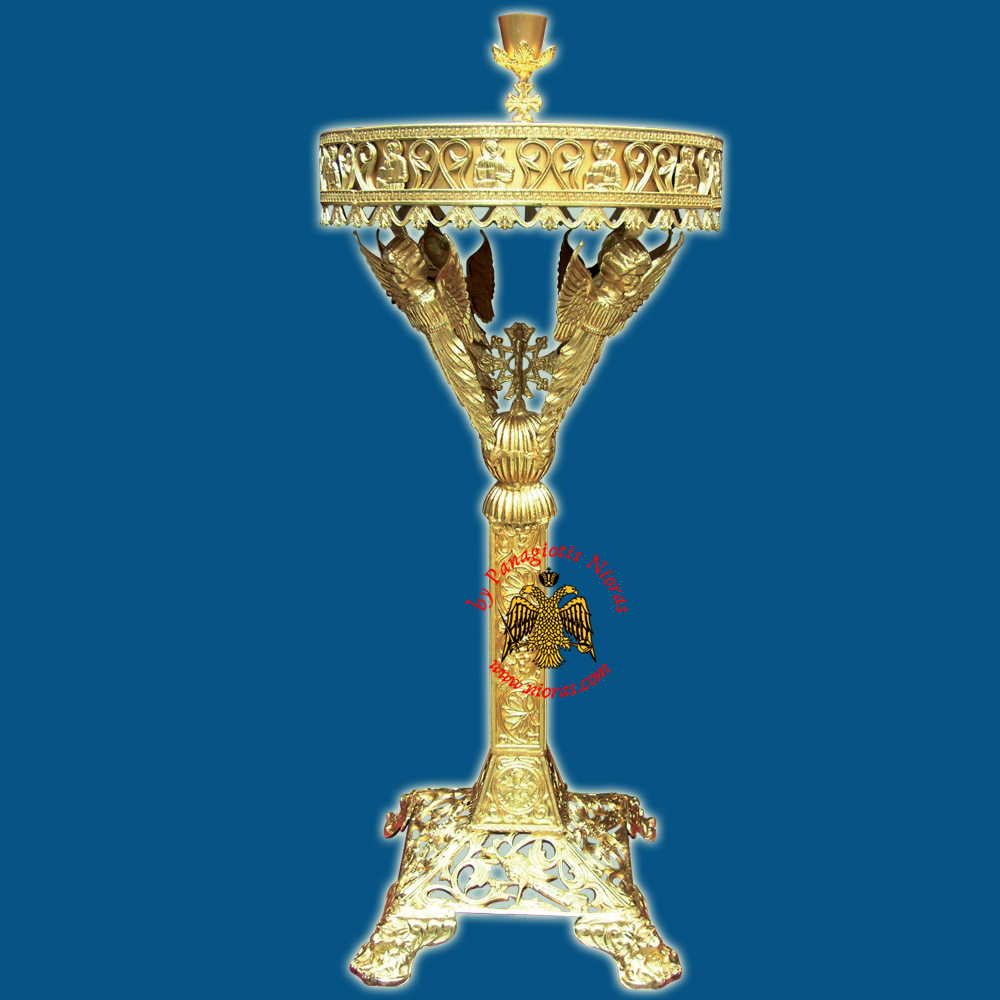 Orthodox Church Style Candelabrum Aluminium with Holy Angels D:50cm