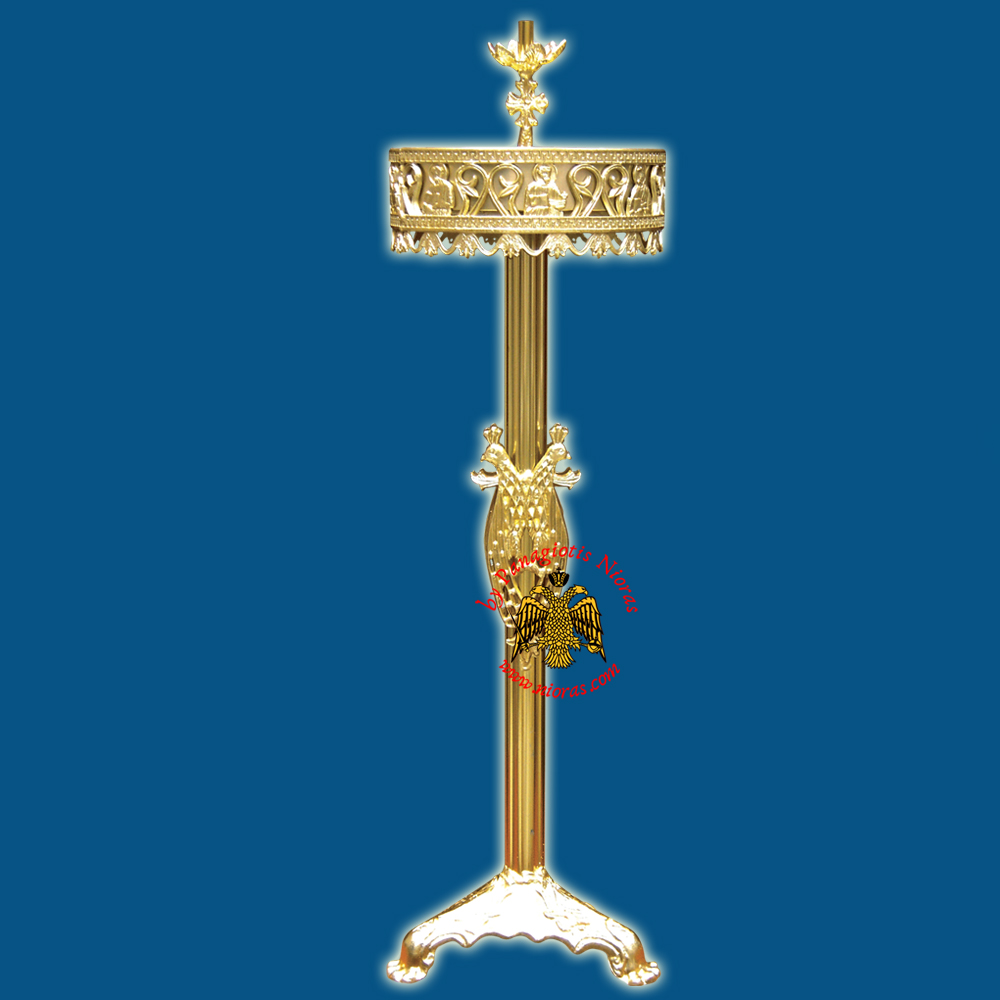 Orthodox Church Style Candelabrum Aluminum for Candles D:30x100cm